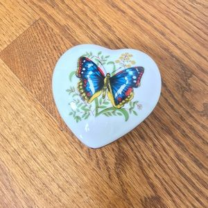Porcelain Butterfly Trinket Box